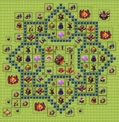 clash of clans базы 10тх