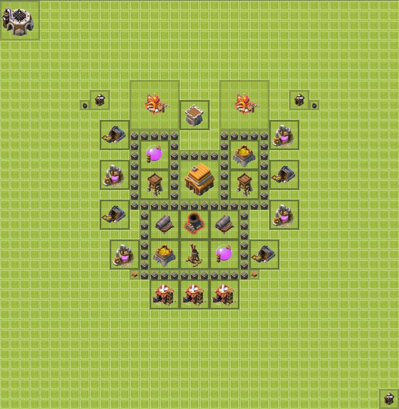 схема тх 4 в clash of clans