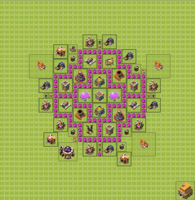самая лудшая тх6 в игре clach of clans