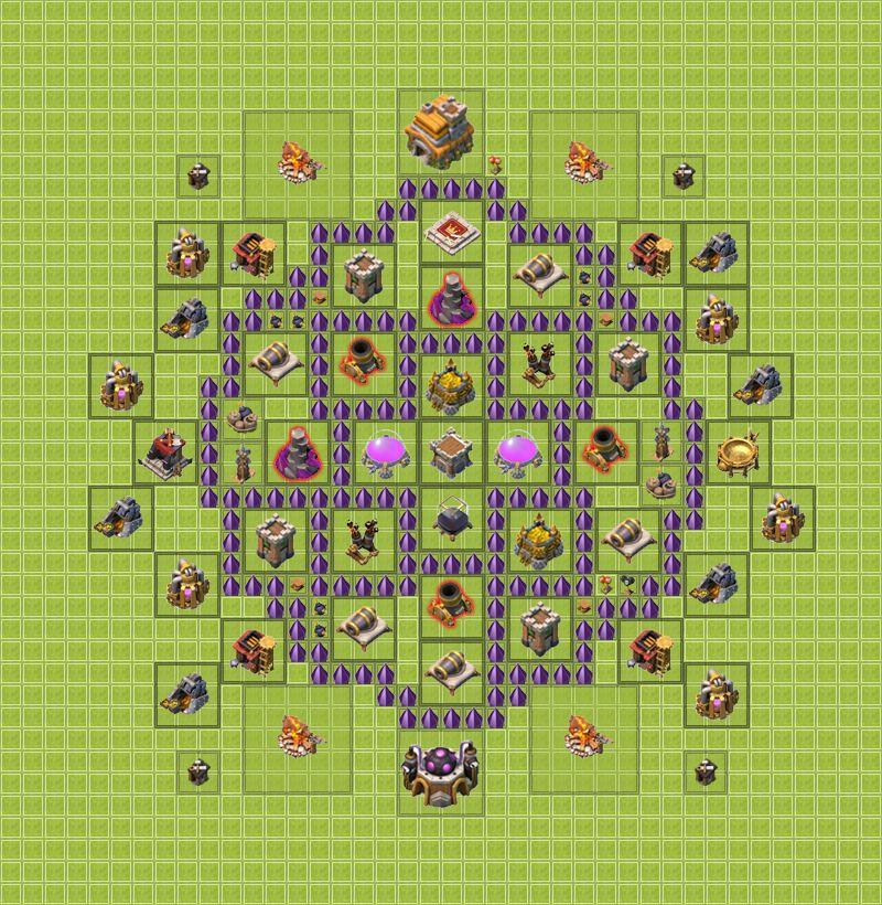 карта карта для сос для 7 уровня ратуши Дмитрий Владимирович